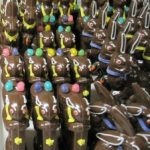Packed up chocolate bunnies