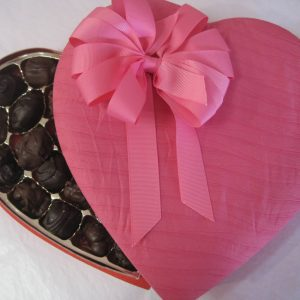 Pink Pleated Chocolate box