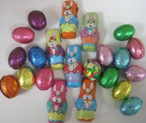 Foil Wrapped Eggs and Bunnies