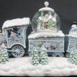 Christmas train scene